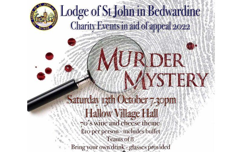 Lodge of St John in Bedwardine – Murder Mystery & Quiz